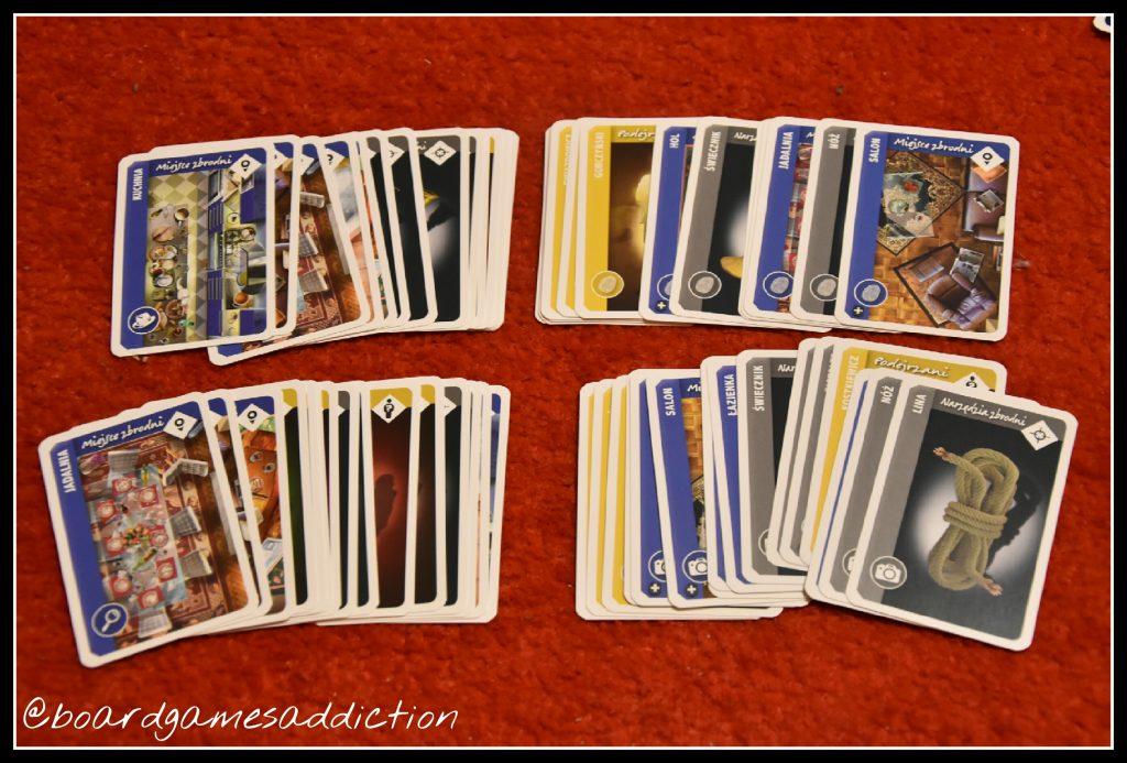 Zestawy kart akt sprawy dla 4 graczy