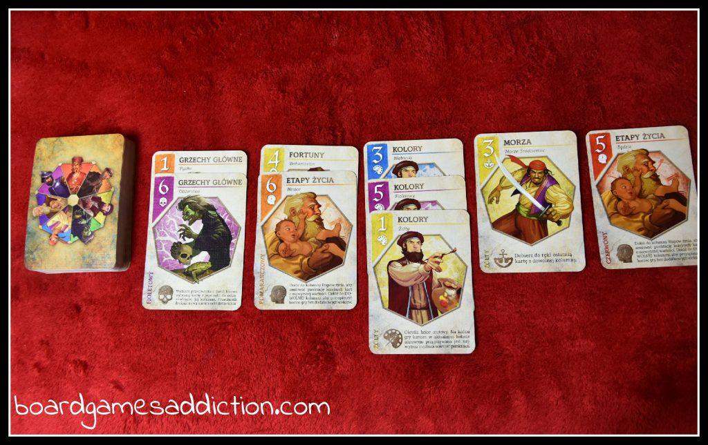 Przykładowy rozkład kart w trakcie gry
