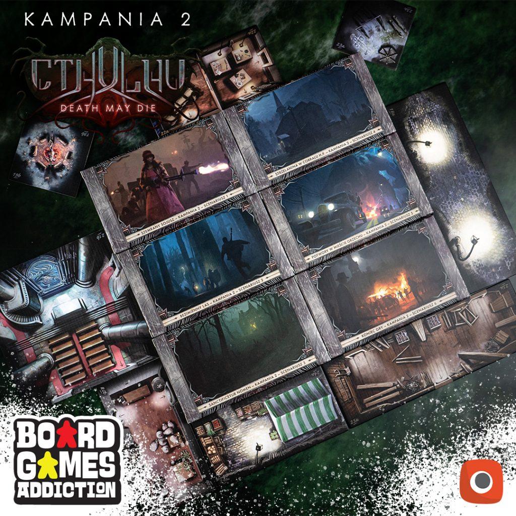 Cthulhu Death May Die Kampania 2   Board Games Addiction